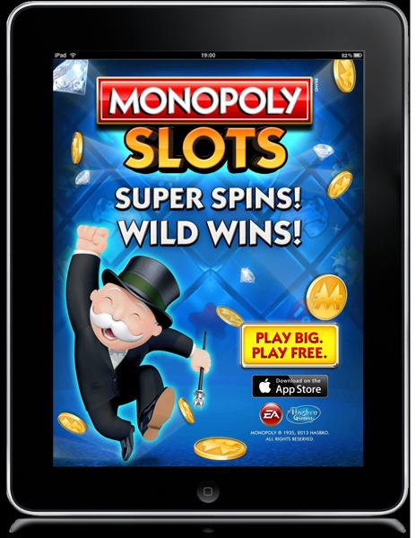 EA Monopoly Slots ad.